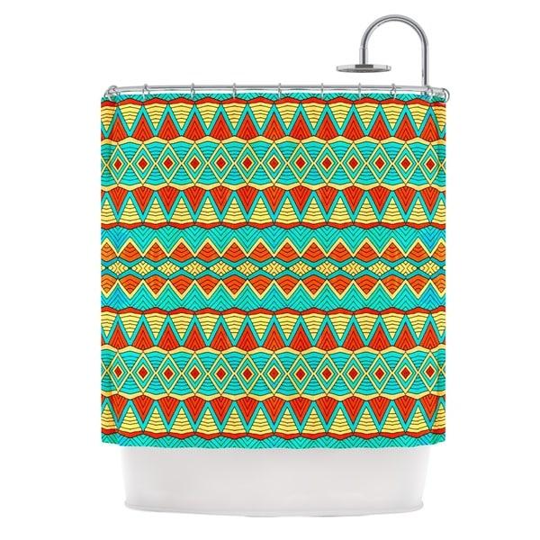 KESS InHouse Pom Graphic Design Tribal Soul Shower Curtain (69x70)
