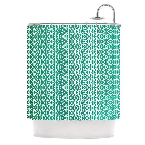 KESS InHouse Pom Graphic Design Tribal Forrest Shower Curtain (69x70)