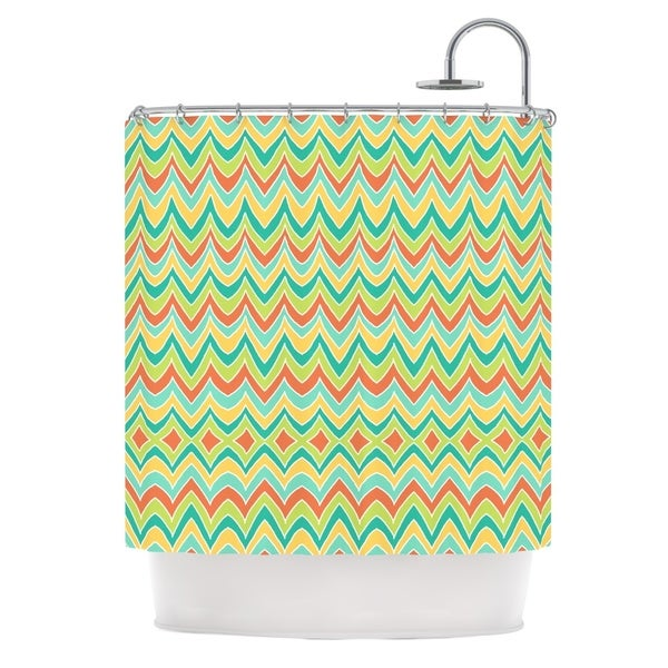 KESS InHouse Pom Graphic Design Bright and Bold Shower Curtain (69x70)
