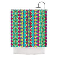 KESS InHouse Pom Graphic Design Tribal Soul II Shower Curtain (69x70)