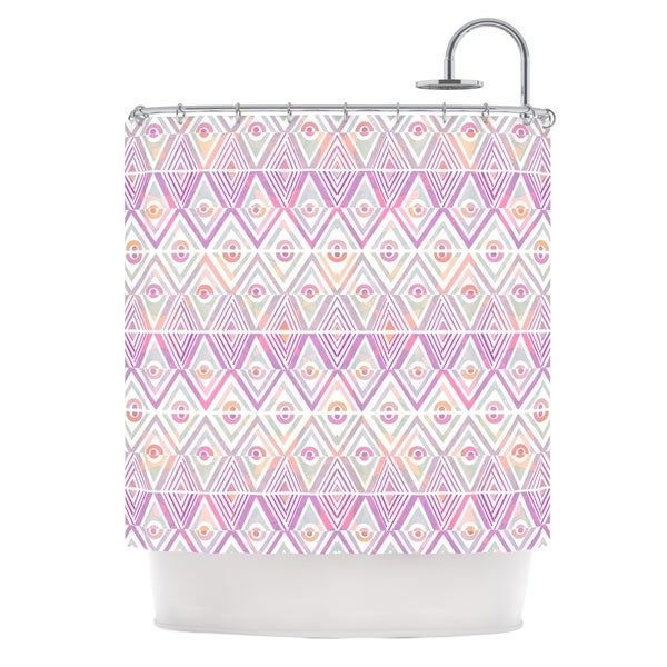 KESS InHouse Pom Graphic Design Soft Petal Tribal Shower Curtain (69x70)