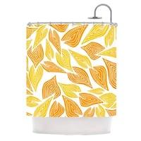 KESS InHouse Pom Graphic Design Autumn Shower Curtain (69x70)