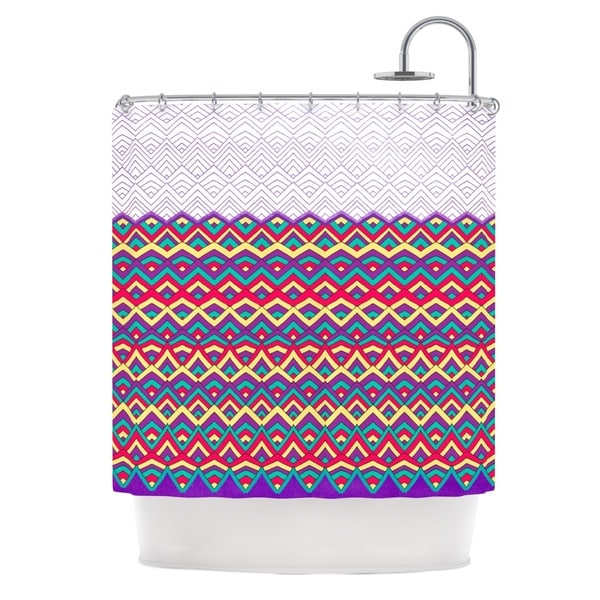 KESS InHouse Pom Graphic Design Horizons II Shower Curtain (69x70)