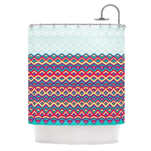 KESS InHouse Pom Graphic Design Horizons Shower Curtain (69x70)