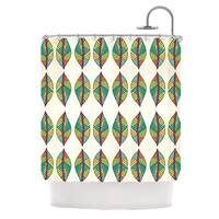 KESS InHouse Pom Graphic Design Tribal Leaves Shower Curtain (69x70)