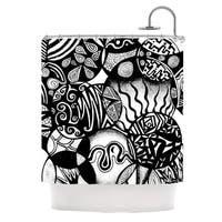 KESS InHouse Pom Graphic Design Circles and Life Shower Curtain (69x70)