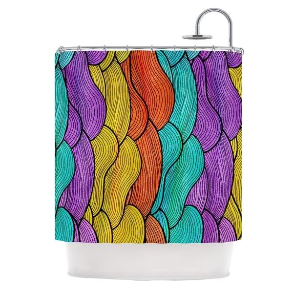 KESS InHouse Pom Graphic Design Textiles Shower Curtain (69x70)