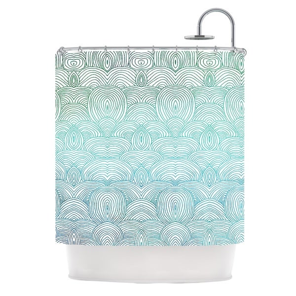 KESS InHouse Pom Graphic Design Clouds in the Sky Shower Curtain (69x70)
