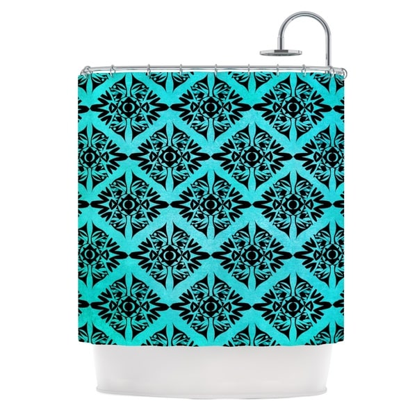 KESS InHouse Pom Graphic Design Eye Symmetry Pattern Shower Curtain (69x70)