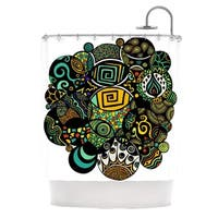 KESS InHouse Pom Graphic Design Multicolor Life Shower Curtain (69x70)