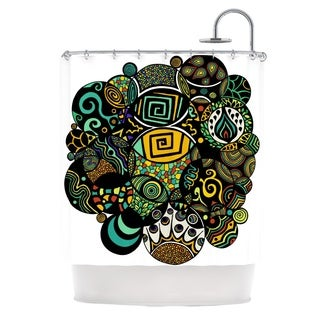 "KESS InHouse Pom Graphic Design ""Multicolor Life"" Shower Curtain (69x70)"