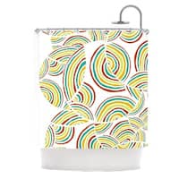 KESS InHouse Pom Graphic Design Rainbow Sky Shower Curtain (69x70)