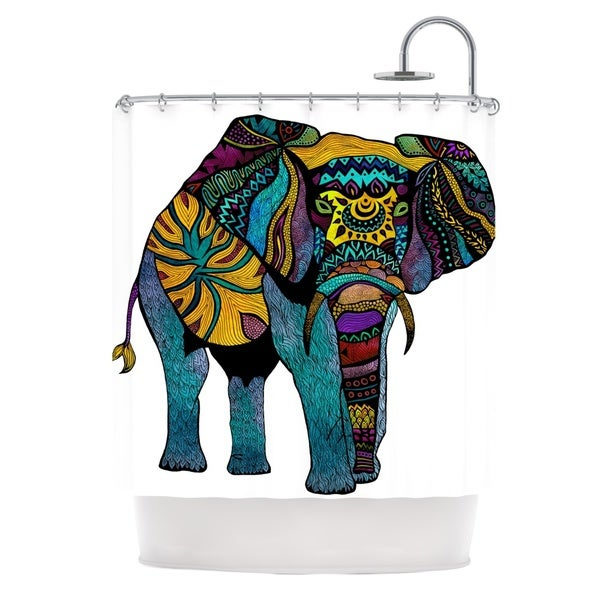 KESS InHouse Pom Graphic Design Elephant of Namibia Shower Curtain (69x70)