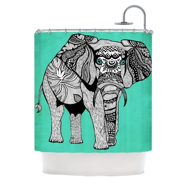 KESS InHouse Pom Graphic Design Elephant of Namibia Color Shower Curtain (69x70)