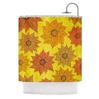 KESS InHouse Pom Graphic Design It's Raining Flowers Shower Curtain (69x70)