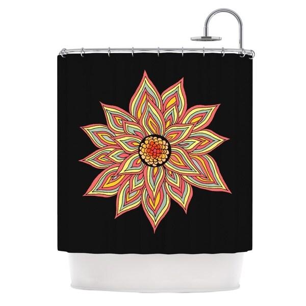 KESS InHouse Pom Graphic Design Incandescent Flower Shower Curtain (69x70)
