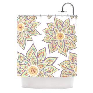 KESS InHouse Pom Graphic Design Floral Rhythm Shower Curtain (69x70)