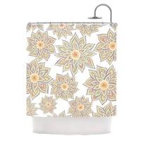 KESS InHouse Pom Graphic Design Floral Dance Shower Curtain (69x70)
