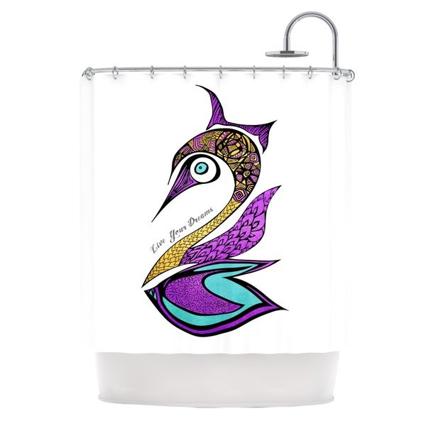 Shop KESS InHouse Pom Graphic Design Dreams Swan Shower Curtain 69x70