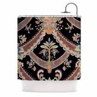 "KESS InHouse Philip Brown ""Vintage Paisley Pattern"" Black Art Deco Shower Curtain (69x70) - 69 x 70"