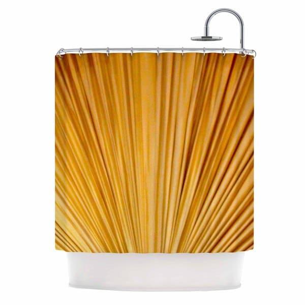 "KESS InHouse Philip Brown ""Golden Curtains"" Orange Abstract Shower Curtain (69x70) - 69 x 70"