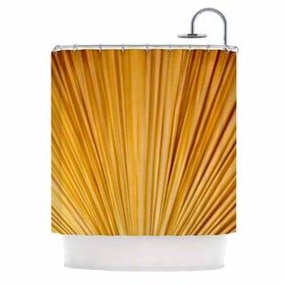 KESS InHouse Philip Brown Golden Curtains Orange Abstract Shower Curtain (69x70)