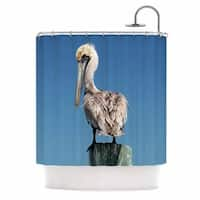 KESS InHouse Philip Brown Pelican Blue Photography Shower Curtain (69x70)