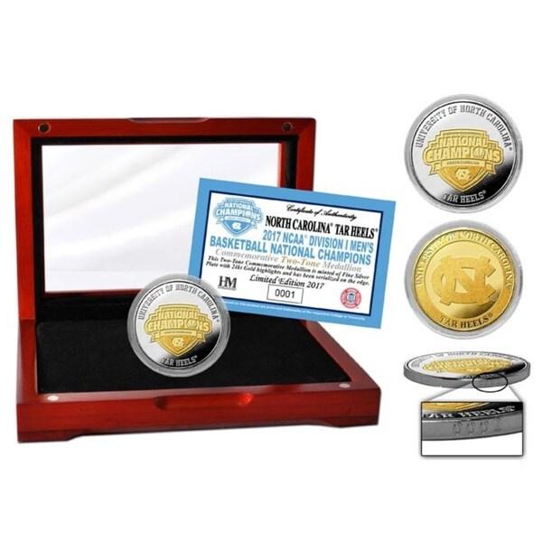 2017 NCAA Men's Basketball National Champions Two-Tone Mint Coin (North Carolina)