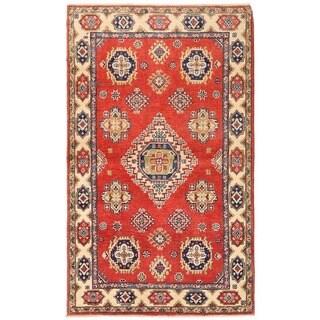 Herat Oriental Afghan Hand-knotted Vegetable Dye Kazak Wool Rug (3' x 5')
