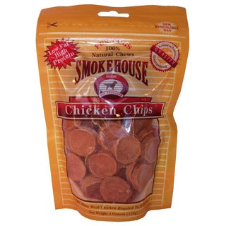 Smokehouse Pet Products 4 Oz Small Chicken Chips Dog Treats