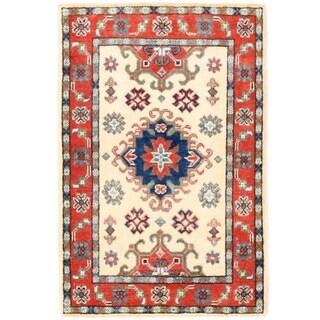 Herat Oriental Afghan Hand-knotted Vegetable Dye Tribal Kazak Wool Rug (2' x 3'1)