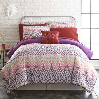 Amraupur Overseas 8-piece Printed Reversible Complete Bed Set Tribal Ikat (4 options available)