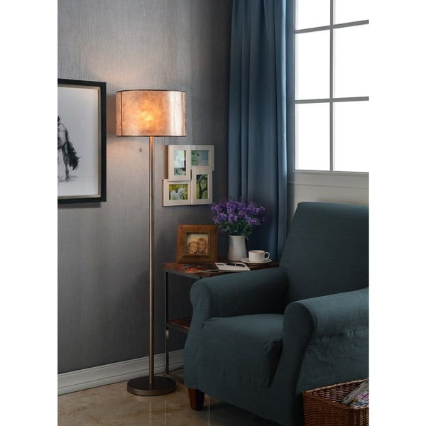 Mica Floor Lamp - Silver