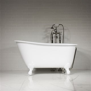 The Lapley 54 inch Cast Iron Swedish Slipper Tub Package
