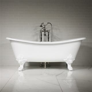 The Leonard 73 inch Cast Iron French Bateau Tub Package|https://ak1.ostkcdn.com/images/products/15095698/P21583631.jpg?impolicy=medium