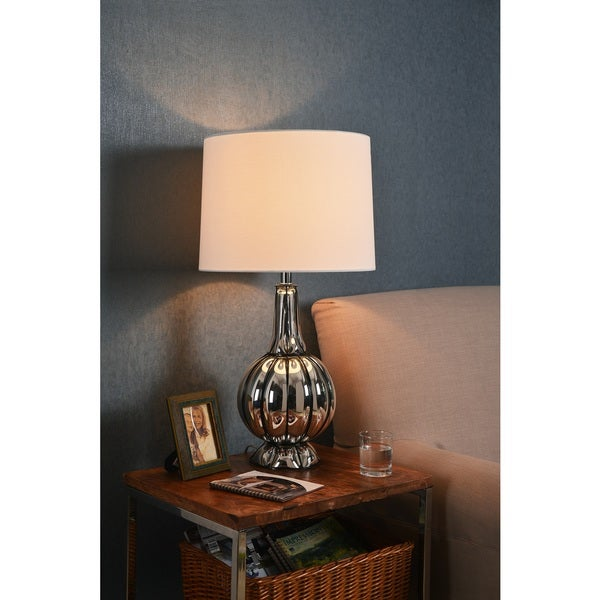Design Craft Moon 29-inch Table Lamp - Chrome
