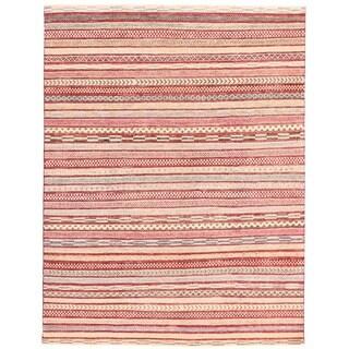Herat Oriental Afghan Hand-knotted Vegetable Dye Gabbeh Wool Rug (5'6 x 7'1)