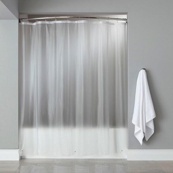 8-Gauge Heavyweight Textured Vinyl Shower Curtain Liner Assorted Colors