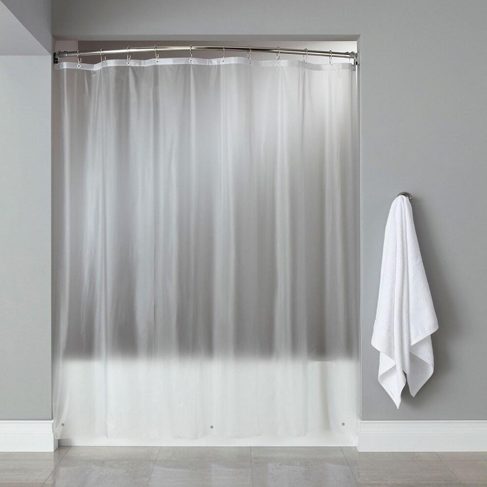 8-Gauge Heavyweight Textured Vinyl Shower Curtain Liner A...