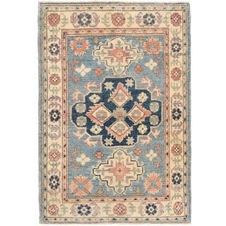 Herat Oriental Afghan Hand-knotted Vegetable Dye Kazak Wool Rug (2'9 x 4')