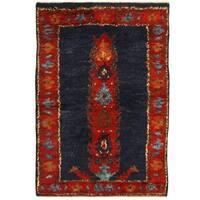 Herat Oriental Afghan Hand-knotted Vegetable Dye Shag Gabbeh Wool Rug (4'3 x 6'3)