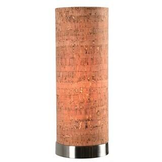 Design Craft Bachman Cork Shade Uplight Accent Lamp