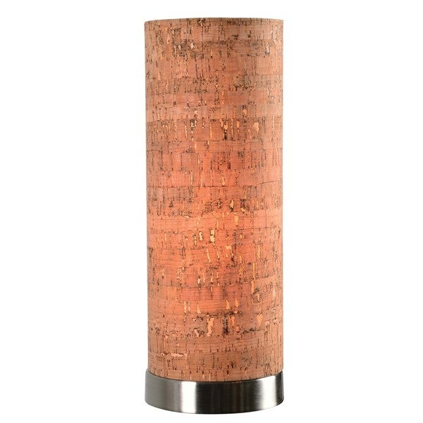 Design Craft Bachman Cork Shade Uplight Accent Lamp