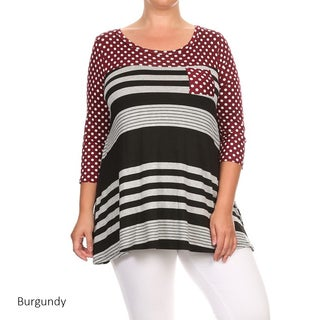 Women's Plus Size Polka Dot Tunic (More options available)