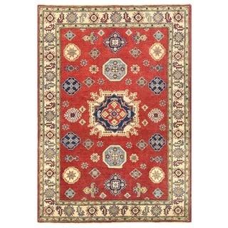 Herat Oriental Afghan Hand-knotted Vegetable Dye Kazak Wool Rug (4'1 x 5'10)