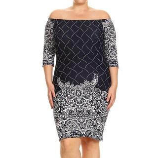 Women's Plus Size Mixed Henna Bodycon Dress