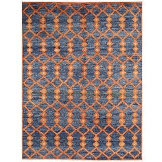 Herat Oriental Afghan Hand-knotted Vegetable Dye Gabbeh Wool Rug (10'7 x 14')