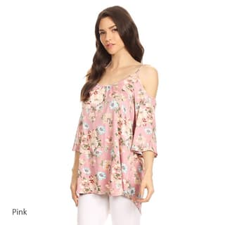 Women's Floral Spaghetti Strap Scoop Tunic|https://ak1.ostkcdn.com/images/products/15095864/P21583769.jpg?impolicy=medium