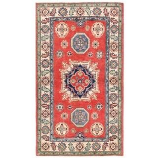 Herat Oriental Afghan Hand-knotted Vegetable Dye Tribal Kazak Wool Rug (3'3 x 5'7)