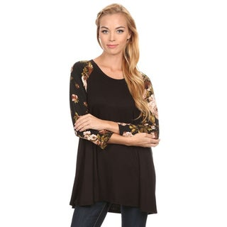 Women's Floral Sleeve Tunic